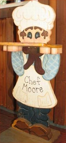 Wood Stand that says Chef Moore